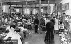 Bideford, Market Interior 1907