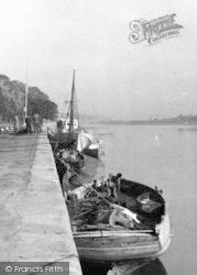 Bideford, Quayside Boats  c.1950