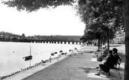 Bideford, The River Torridge And Long Bridge c.1955