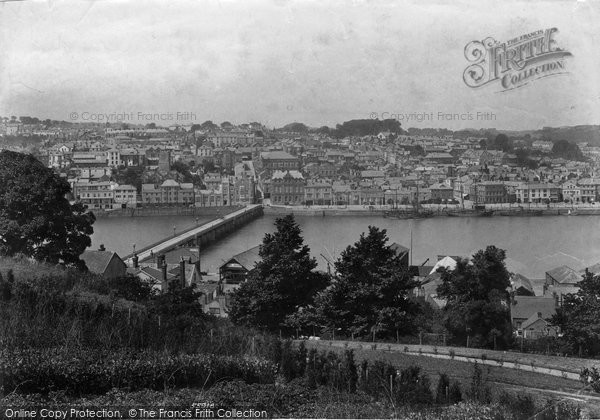 Bideford, Town And Bridge 1906