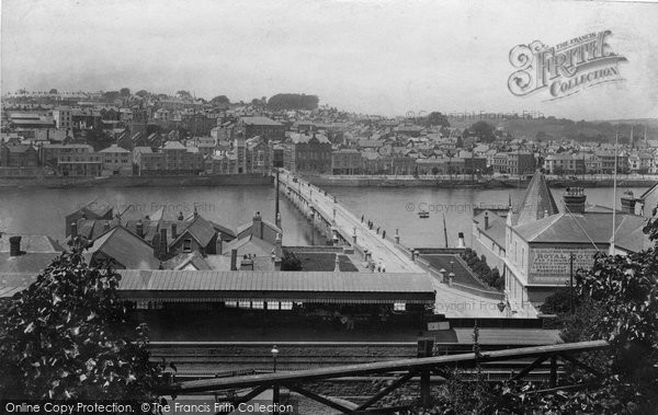 Bideford, Town And Station 1906