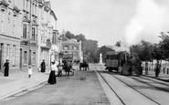 Bideford, Train On The Promenade 1907