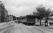 Bideford, Train On The Quay 1906