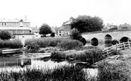 Bidford-on-Avon, Bridge And Boathouse 1899