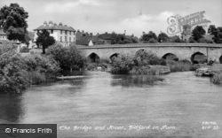 Bridge And River c.1955, Bidford-on-Avon