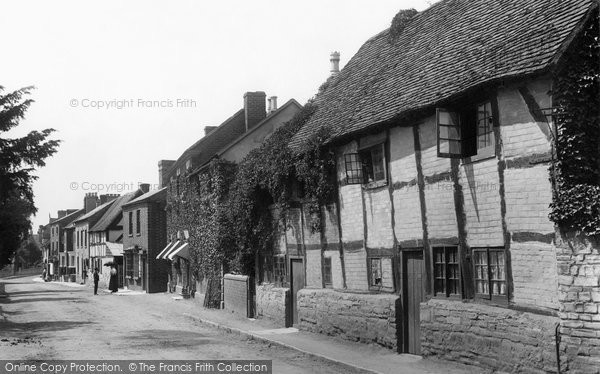 Bidford On Avon, Old Cottages 1899