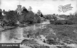 River And Church c.1955, Bidford-on-Avon