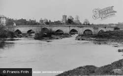Bidford-on-Avon, River Avon And Bridge c.1955