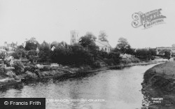 Bidford-on-Avon, View From The Bridge c.1955