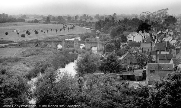 Bidford On Avon, View From The Church Tower c.1955