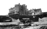 Bigbury On Sea, Burgh Island Hotel and Tractor c1940