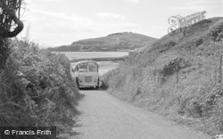 Bigbury-on-Sea, Bus On The Beach Path 1952