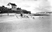 Bigbury-on-Sea, Foxhounds On Beach, Burgh Island 1924