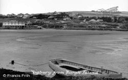 From Burgh Island c.1960, Bigbury-on-Sea