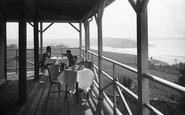 Bigbury-on-Sea, Tea On The Veranda, Bay Court Hotel c.1933