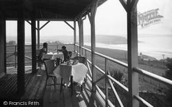 Tea On The Veranda, Bay Court Hotel c.1933, Bigbury-on-Sea