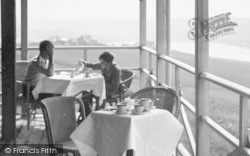 Bigbury-on-Sea, Tea On The Veranda, Bay Court Hotel c.1933
