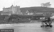 Bigbury-on-Sea, The Burgh Island Hotel And Tractor 1931