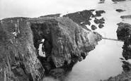 Bigbury-on-Sea, The Rock Arch, Burgh Island c.1933