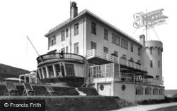 Bigbury-on-Sea, the Terrace, Burgh Island Hotel c1933