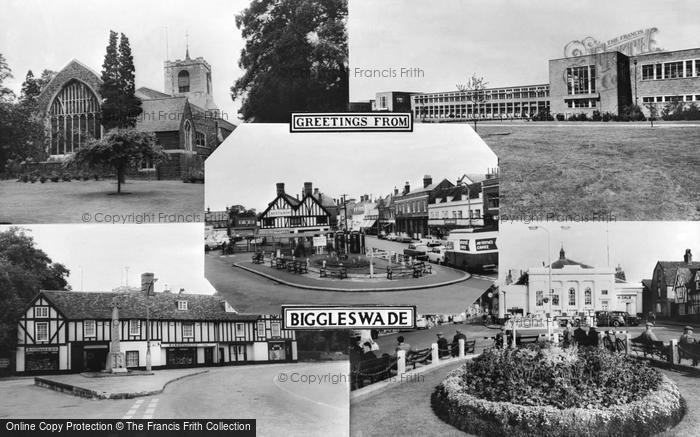 Photo of Biggleswade, Composite c.1965