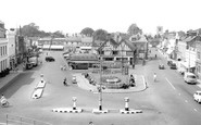 Biggleswade, Market Place c1955