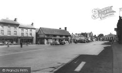 Biggleswade, Market Square c.1955