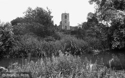 Biggleswade, St Andrew's Church From River Ivel 1925