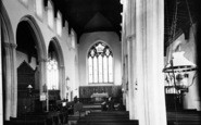 Bildeston, St Mary's Church Interior c.1955