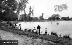 Fishing In The Lake c.1965, Billericay