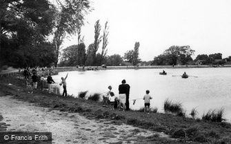 Billericay, Fishing in the Lake c1965