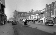 Billericay, High Street And Parish Church c.1950