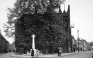 Billericay, St Mary's Church And War Memorial c.1955