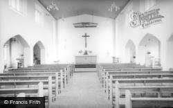 Billingshurst, St Gabriel's Catholic Church Interior c.1960
