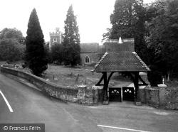 Binfield, All Saints Church And Lychgate c.1955