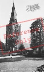 The Parish Church c.1955, Bingham