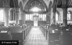 The Parish Church, Interior c.1955, Bingham