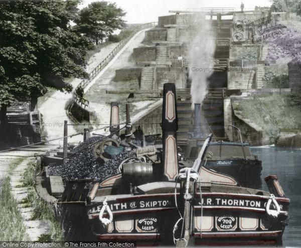 Photo of Bingley, Five Rise Locks c.1900