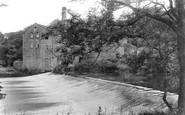 Bingley, Hurst Mill And Weir 1909
