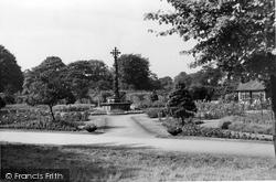 Bingley, Myrtle Park, Memorial And Gardens c.1955