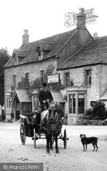 Birdlip, Horse And Carriage, George Hotel 1907