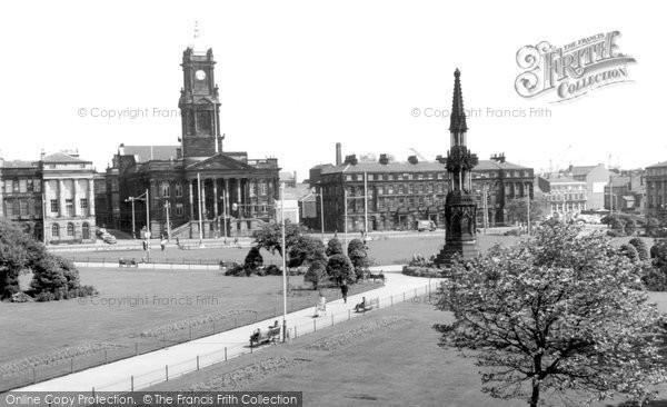 Birkenhead, Hamilton Square And Town Hall 1967