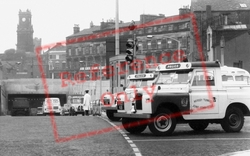 Birkenhead, Police Vehicles By Queensway Tunnel c.1965