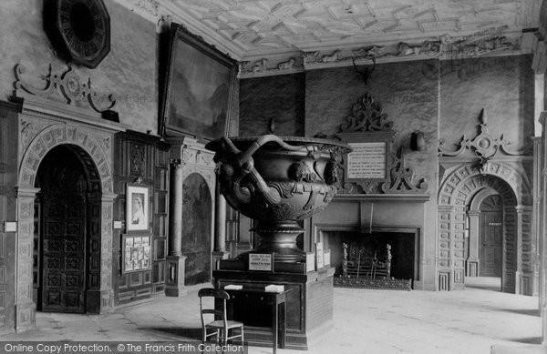 Birmingham, Aston Hall, Entrance Hall 1896