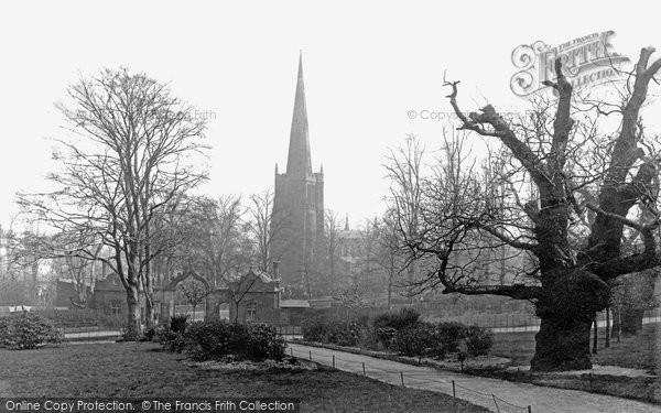 Birmingham, Aston Hall Park And Church 1896