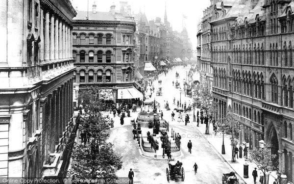 Birmingham, Corporation Street 1890