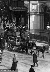 Horse Drawn Bus In New Street 1896, Birmingham