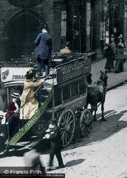 Horse Drawn Bus, New Street 1890, Birmingham
