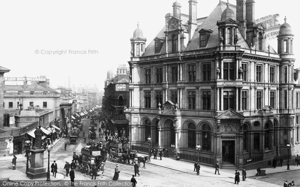 Birmingham, New Street and the Post Office 1896