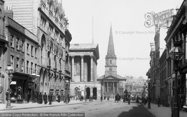 Birmingham, Paradise Street And The Town Hall 1896